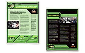 Oil Change - Sales Sheet Template