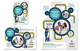 Moving Service - Print Ad Sample Template
