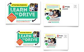 Driving School - Postcard Template