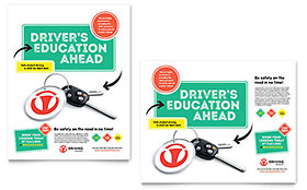 Driving School - Poster Sample Template