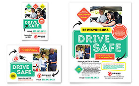 Driving School - Flyer & Ad Template