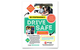 Driving School - Flyer Sample Template