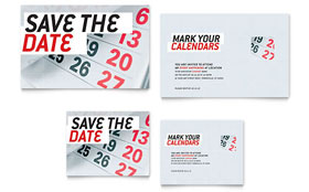 Save The Date - Note Card Sample Template