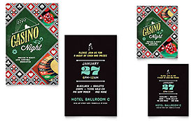Casino Night - Note Card Template