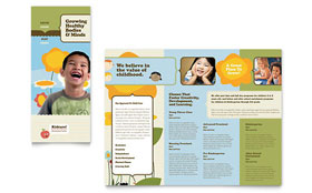 Child Development School - Graphic Design Tri Fold Brochure Template