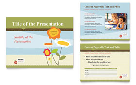 Child Development School - PowerPoint Presentation Template Design Sample
