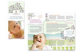 Babysitting & Daycare - Pamphlet Template