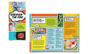 Kids Club - Microsoft Publisher Brochure Template