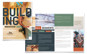 Home Builders & Construction - Apple iWork Pages Brochure Template