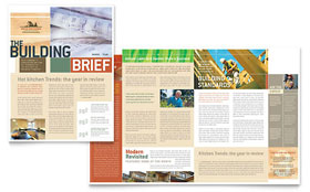 Home Builders & Construction - Newsletter Sample Template