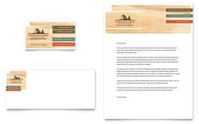 Home Builders & Construction - Business Card & Letterhead Template