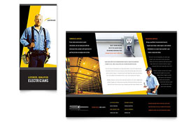 Electrician - Brochure Template Design Sample