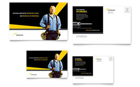 Electrician - Postcard Sample Template