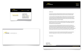 Electrician - Business Card & Letterhead Template Design Sample