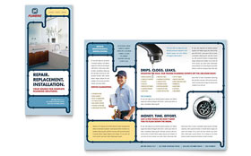 Plumbing Services - Business Marketing Brochure Template