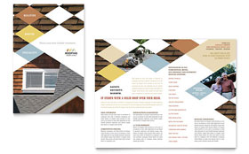 Roofing Contractor - QuarkXPress Brochure Template