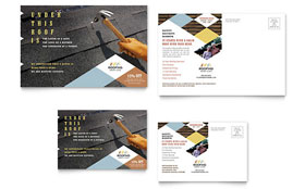 Roofing Contractor - Postcard Sample Template