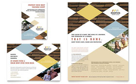Roofing Contractor - Flyer & Ad Template Design Sample