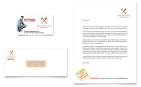 Handyman Services - Business Card & Letterhead Template