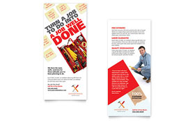 Handyman Services - Rack Card Template Design Sample