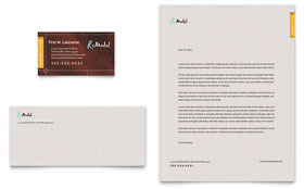 Home Remodeling - Business Card & Letterhead Template Design Sample