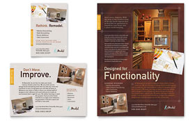 Home Remodeling - Print Ad Sample Template