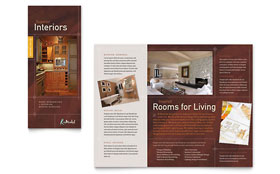 Home Remodeling - Adobe InDesign Tri Fold Brochure Template