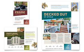 Decks & Fencing - Flyer Template Design Sample