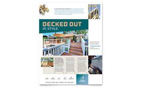Decks & Fencing - Flyer Template