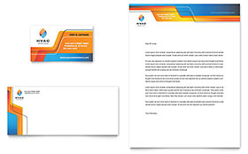 HVAC - Business Card & Letterhead Template