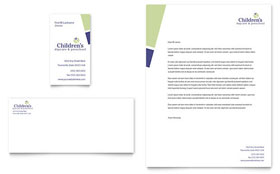Child Care & Preschool - Business Card & Letterhead Template Design Sample