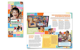 Preschool Kids & Day Care - Brochure Template Design Sample