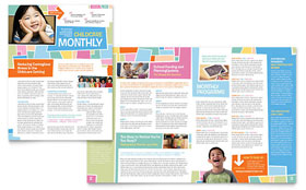 Preschool Kids & Day Care - Newsletter Template Design Sample