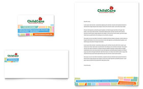 Preschool Kids & Day Care - Business Card Sample Template
