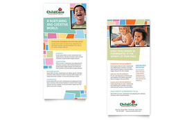 Preschool Kids & Day Care - Rack Card Template Design Sample