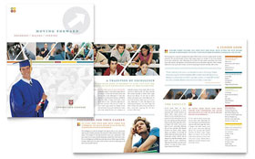 College & University - Adobe Illustrator Brochure Template