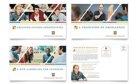 College & University - Postcard Template Design Sample