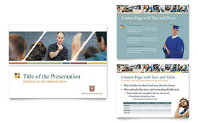 College & University - PowerPoint Presentation Template Design Sample