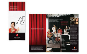 Music School - Brochure Template Design Sample