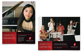 Music School - Poster Template Design Sample