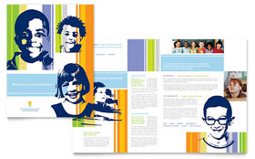 Learning Center & Elementary School - Brochure Template Design Sample