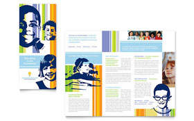 Learning Center & Elementary School - Brochure Template