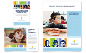 Learning Center & Elementary School - Flyer & Ad Template Design Sample
