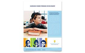 Learning Center & Elementary School - Flyer Template