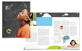 Education Foundation & School - Adobe InDesign Brochure