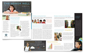 Education Foundation & School - Newsletter Template Design Sample
