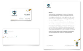 Education Foundation & School - Business Card & Letterhead Template Design Sample