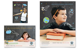 Education Foundation & School - Flyer & Ad Template Design Sample