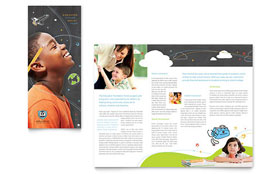 Education Foundation & School - Tri Fold Brochure Template Design Sample