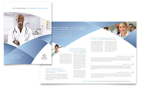 Nursing School Hospital - Adobe InDesign Brochure Template